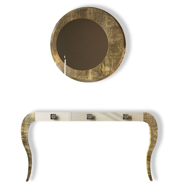Deals Fernwood Console Table And Mirror Set