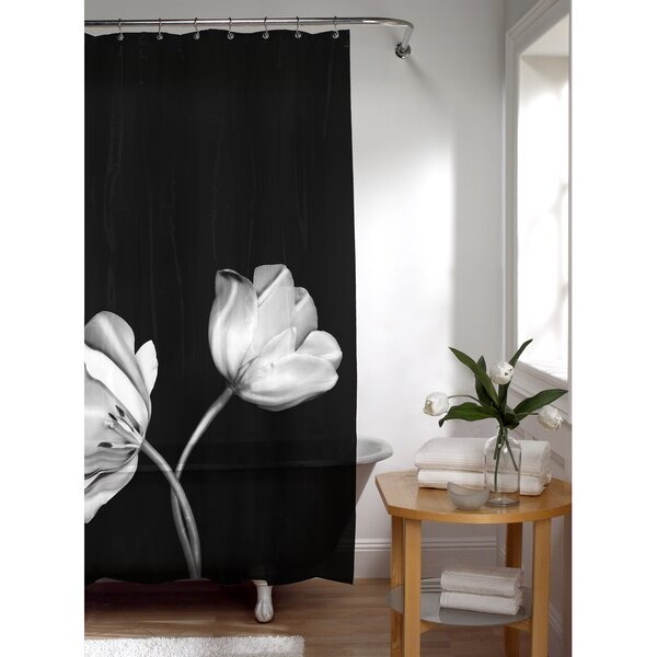 PEVA Tulip Photoreal Shower Curtain by Latitude Run