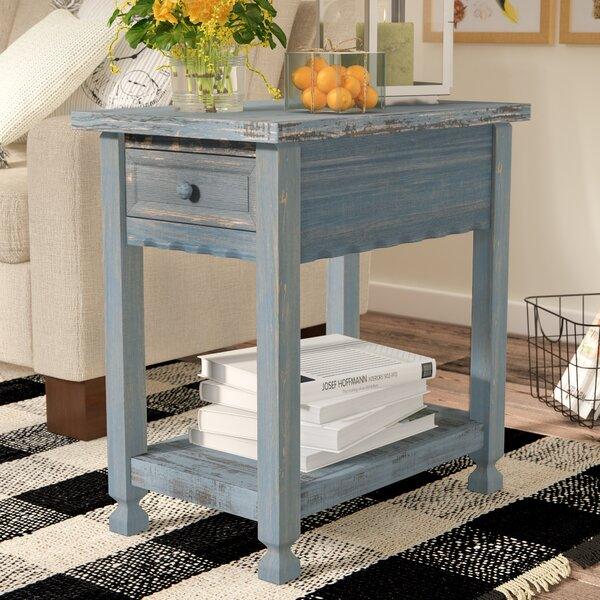 Mangum Solid Wood End Table with Storage by Laurel Foundry Modern Farmhouse Laurel Foundry Modern Farmhouse