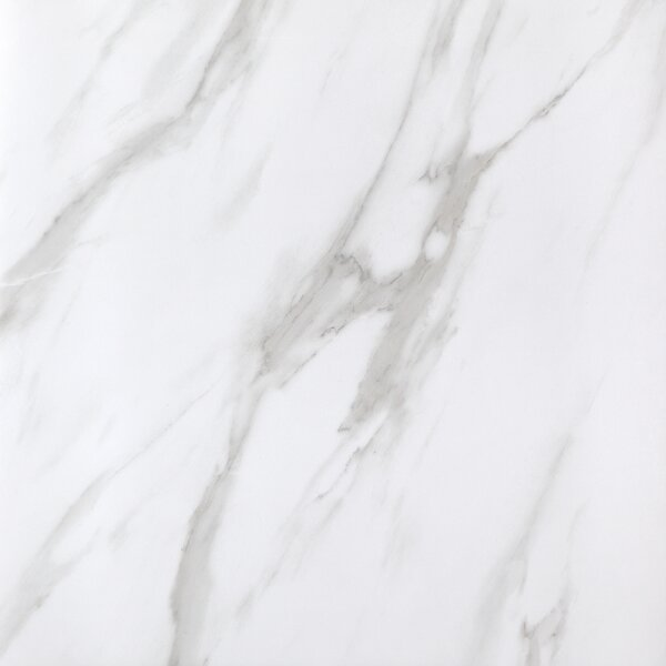 Calacatta Full Polished Glazed Porcelain Field Tile in White by Multile