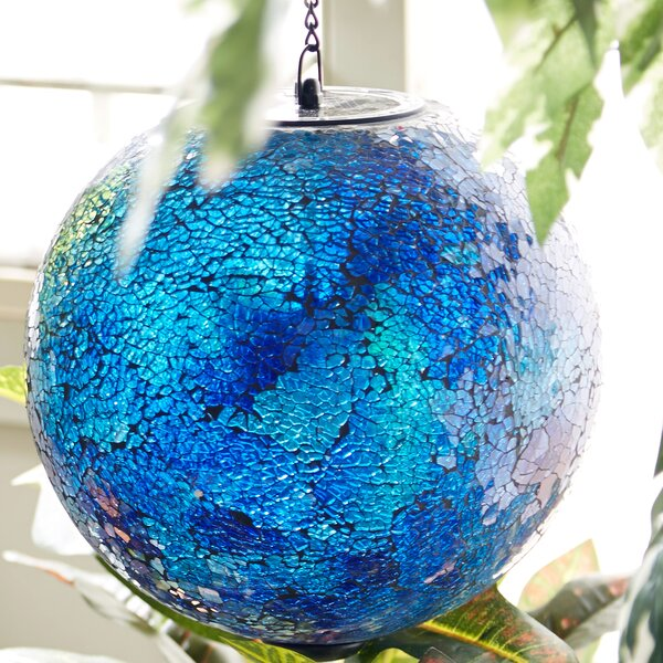 Solar Hanging Gazing Globe by Evergreen Flag & Garden