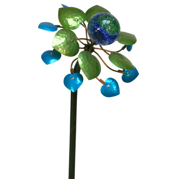 Lilith Topaz Jade Leaf Garden Stake by Winston Porter