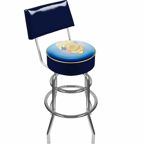 Police Officer 31 Swivel Bar Stool by Trademark Global
