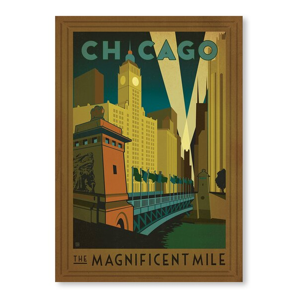 Chicago: Magnificent Mile Vintage Advertisement by East Urban Home