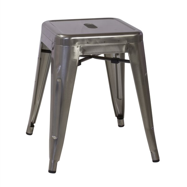 Ruggero Industrial Tolix 18'' Bar Stool (Set of 4) by 17 Stories