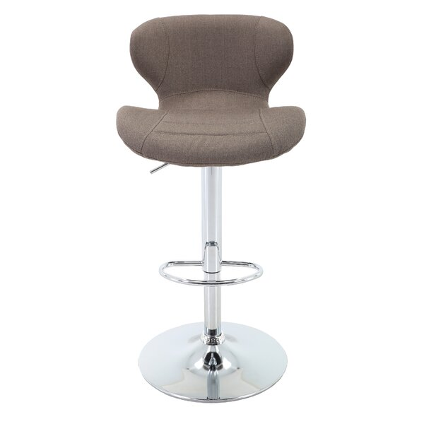 Aadhya Adjustable Height Swivel Bar Stool by Orren Ellis