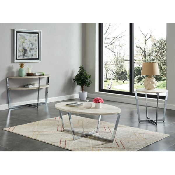 Sylviane 3 Piece Coffee Table Set By Orren Ellis
