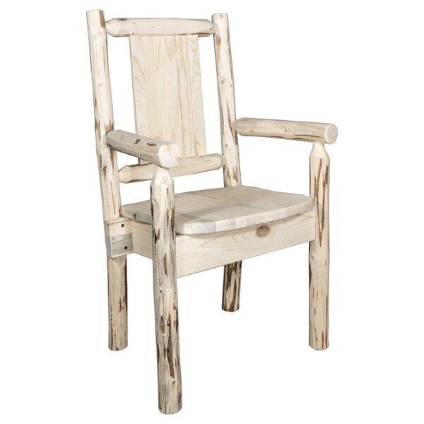Debbi Rustic Solid Wood Dining Chair by Loon Peak