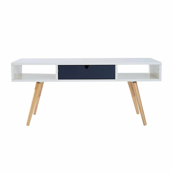 Jillian Wooden Coffee Table with Storage by George Oliver