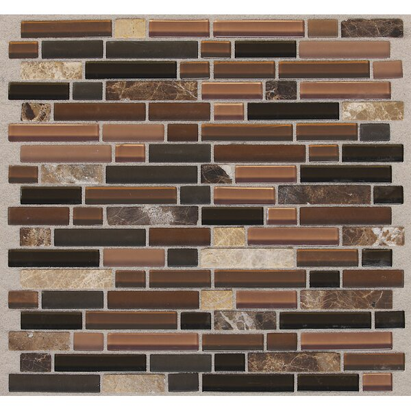 Treasure 12 x 13 Glass Gem Mosaic Tile in Brown Toffee by Mohawk Flooring