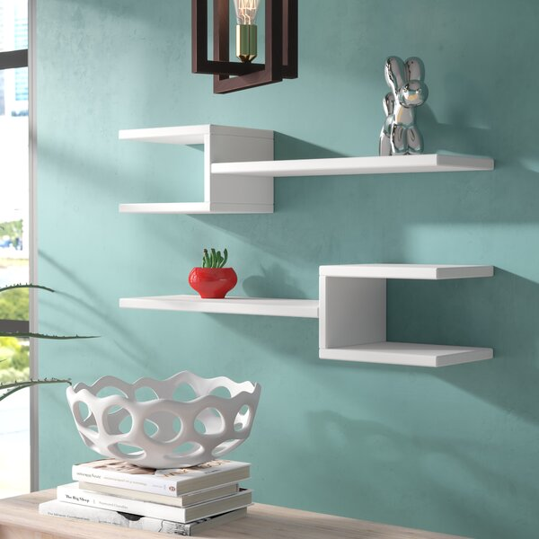 Kyle Modern Wall Shelf (Set of 2) by Brayden Studio