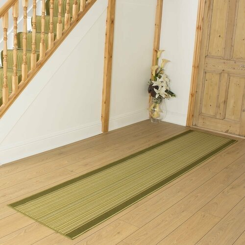 Baitz Looped/Hooked Green Hallway Runner Rug ClassicLiving