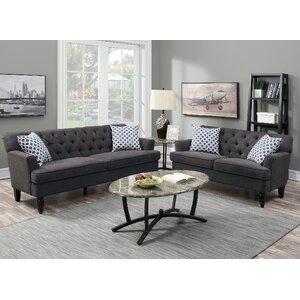 Bobkona Fostord 2 Piece Living Room Set by Poundex