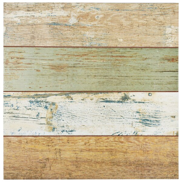 Royalty 17.63 x 17.63 Ceramic Wood Look Tile in Brown/Beige by EliteTile