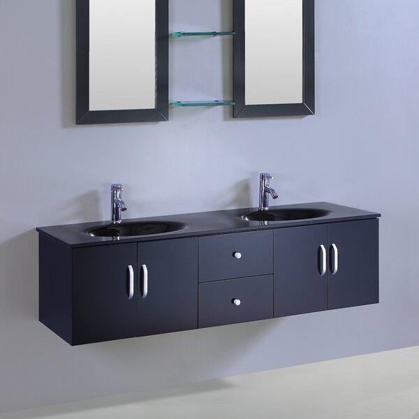 Straub 60 Double Vanity Set with Mirror by Ebern Designs