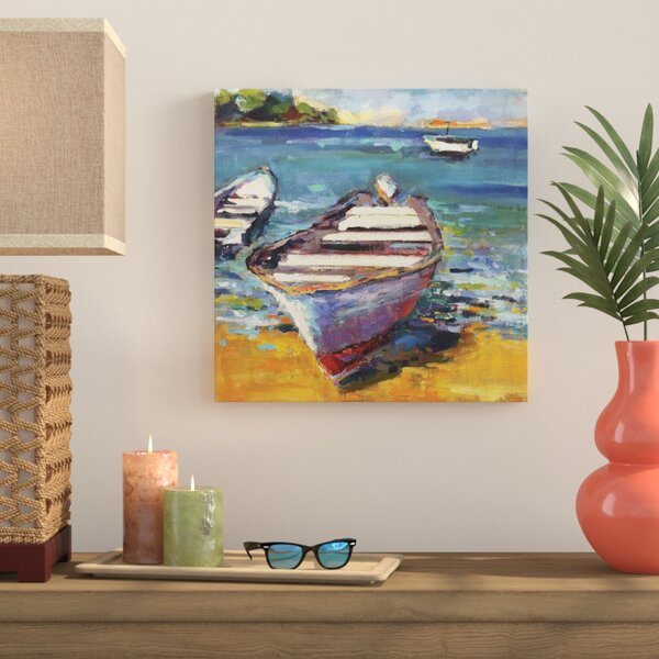 Boat Painting Print on Wrapped Canvas by Bay Isle Home