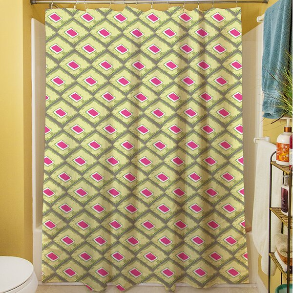 Butterfly Diamond Shower Curtain by Manual Woodworkers & Weavers