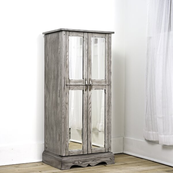Bayliff Free Standing Jewelry Armoire with Mirror by Millwood Pines