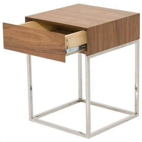 Crumley Walnut 1 Drawer Nightstand by Corrigan Studio