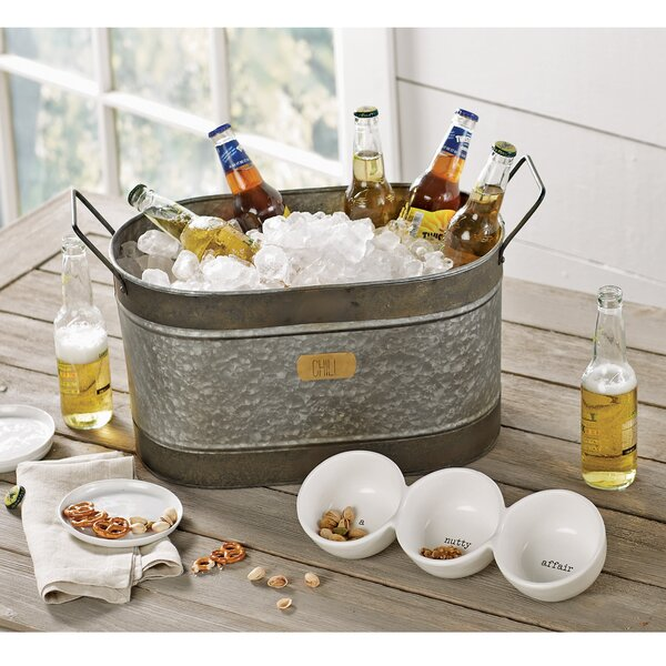 Rustic Farmhouse Galvanized Tin Beverage Tub by Mu