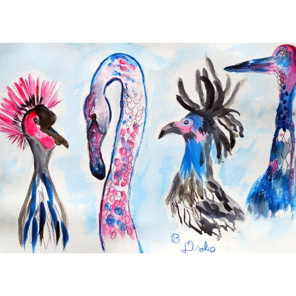 Loony Birds Placemat (Set of 4) by Betsy Drake Interiors
