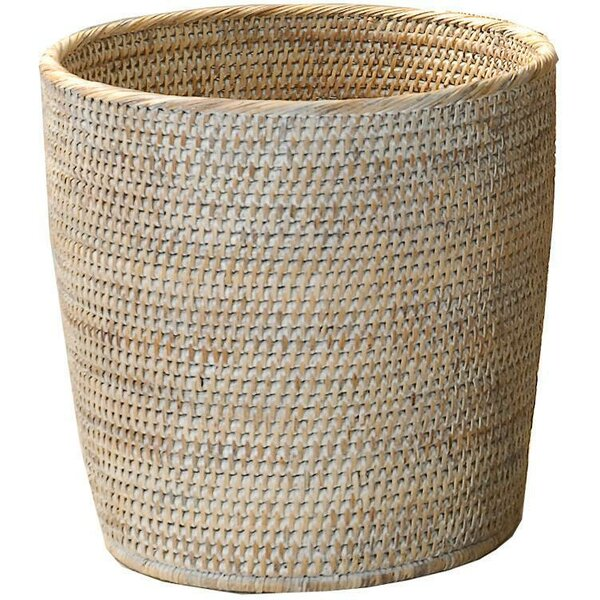 Efren Rattan Open Waste Basket by Mistana