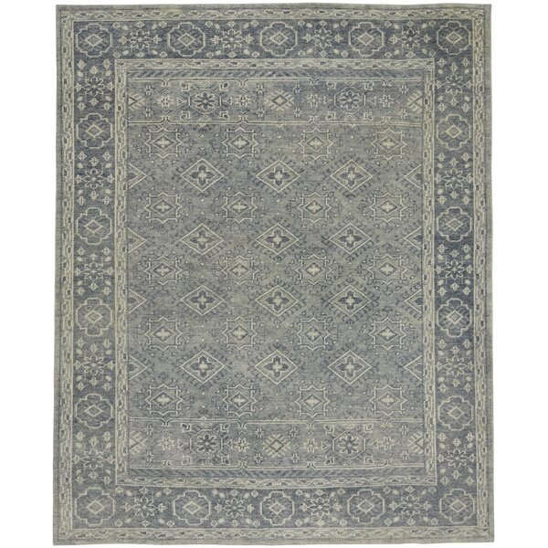 Cannae Hand-Knotted Blue Area Rug by Capel Rugs