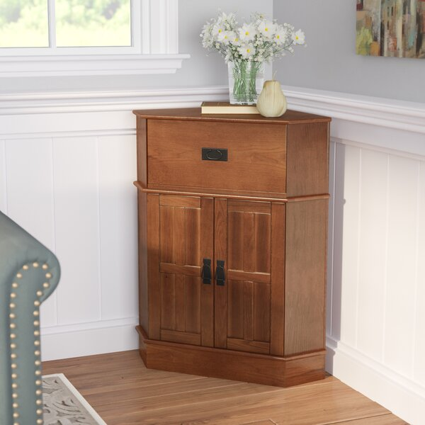 Gulley 2 Door Corner Cabinet by Charlton Home