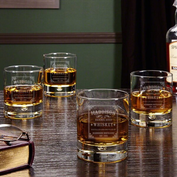 Stillhouse Personalized 10 oz. Whiskey Glass (Set of 4) by Home Wet Bar