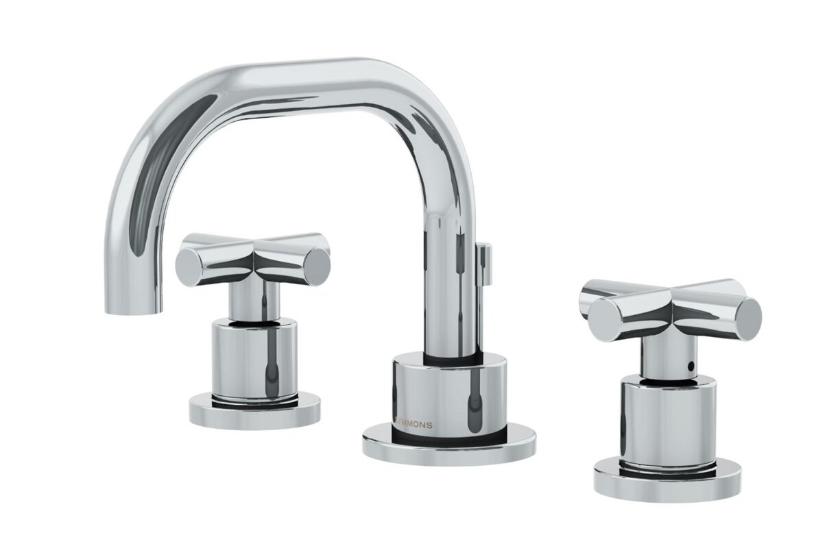 Dia Low Spout Widespread Standard Bathroom Faucet Double Cross ...