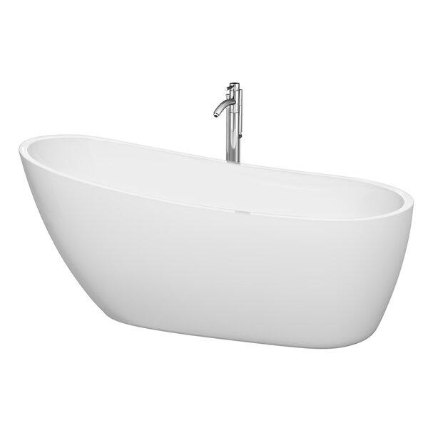 Florence 68.75 x 30.5 Soaking Bathtub by Wyndham Collection