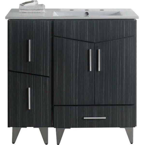 Kapp Glazed Floor Mount 36 Single Bathroom Vanity Set by Royal Purple Bath Kitchen