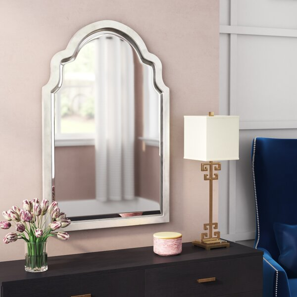 Clariandra Silver Arched Wall Mirror by Willa Arlo Interiors