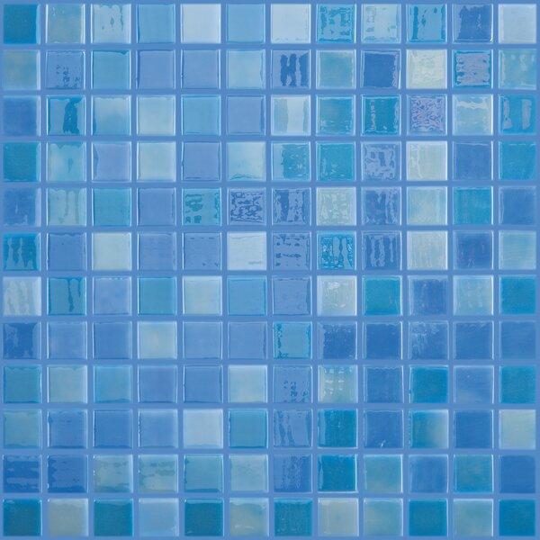 Lux Eco 12.375 W x 12.375 L Glass Mosaic in Blue Lagoon by Kellani