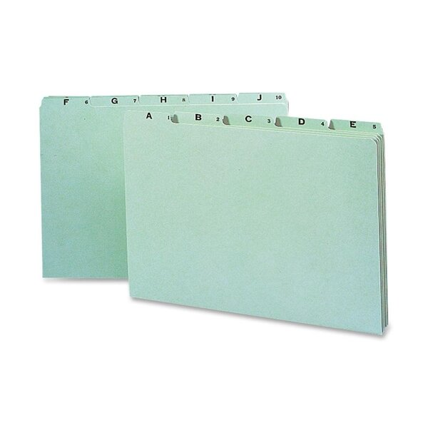 Recycled Top Tab File Guides, Alpha, 1/5 Tab, Pressboard, Legal, 25/Set by Smead Manufacturing Company