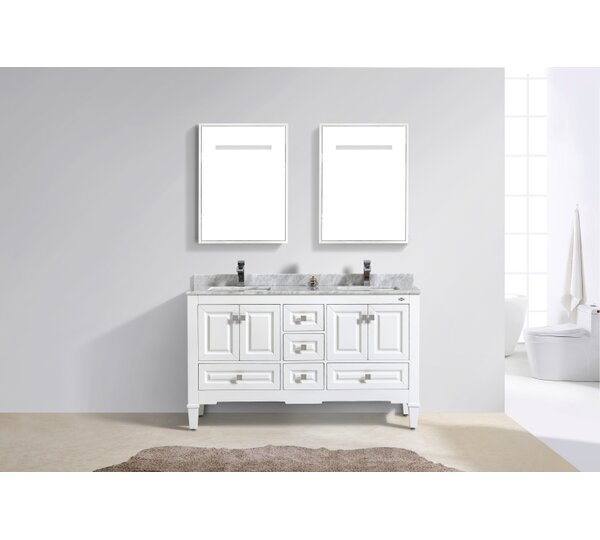 Aaliyah Fayer 60 Double Bathroom Vanity Set by Alcott Hill