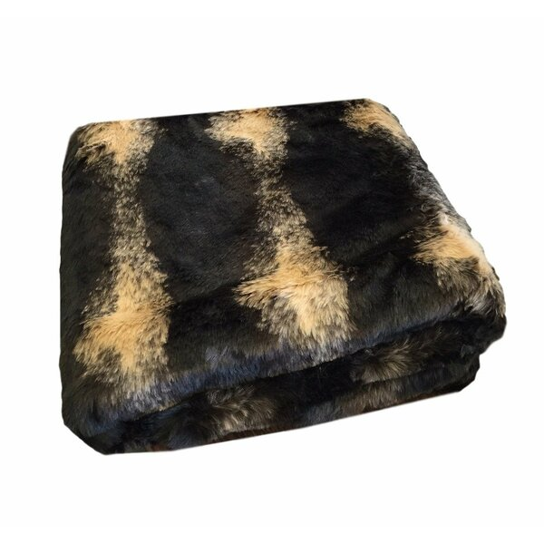 Tempest Luxurious Faux Fur Blanket by Millwood Pines