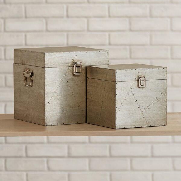 Sifford 2 Piece Clad Decorative Box Set by Trent Austin Design