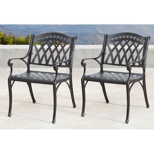 Mccollough Mesh Lattice Patio Dining Chair (Set of 2) by Canora Grey