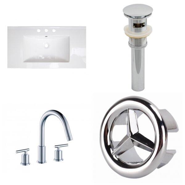 Latshaw 32 Single Bathroom Vanity Top and Overflow Drain