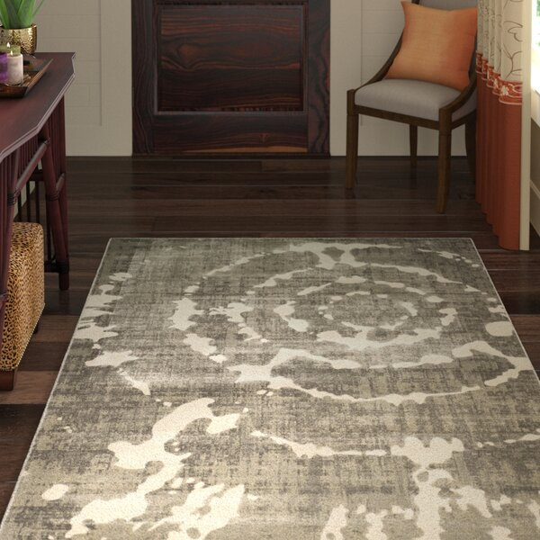 Chaima Gray/Ivory Area Rug by World Menagerie