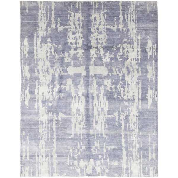 One-of-a-Kind Croghfern Hand-Knotted Wool Blue Indoor Area Rug by Isabelline