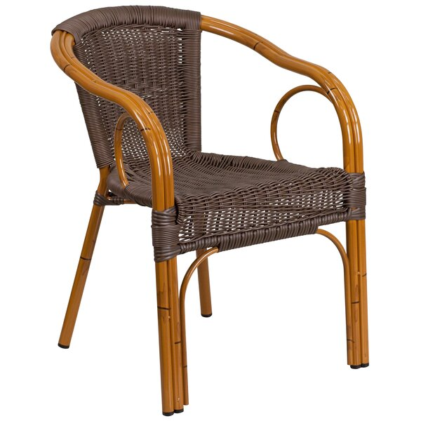Keyla Rattan Restaurant Patio Chair by Mistana