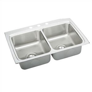 Lustertone 33 L x 22 W Double Basin Drop-In Kitchen Sink by Elkay