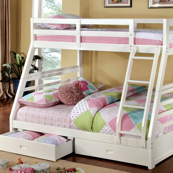Sawicki Twin over Full Bunk Bed with Drawers by Harriet Bee