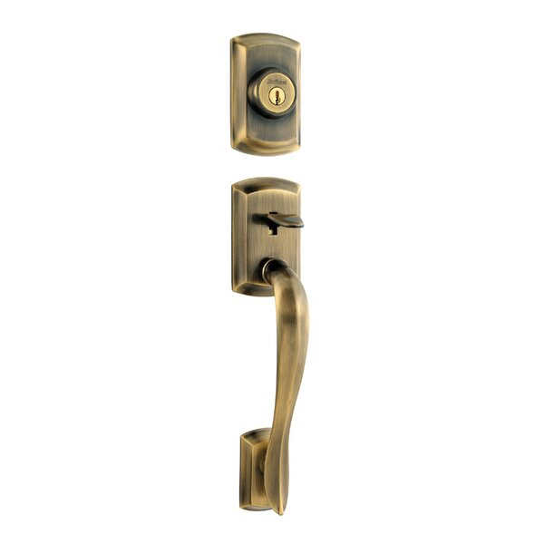 Avalon Double Cylinder Entrance Handleset with Smartkey, Exterior Handle Only by Kwikset