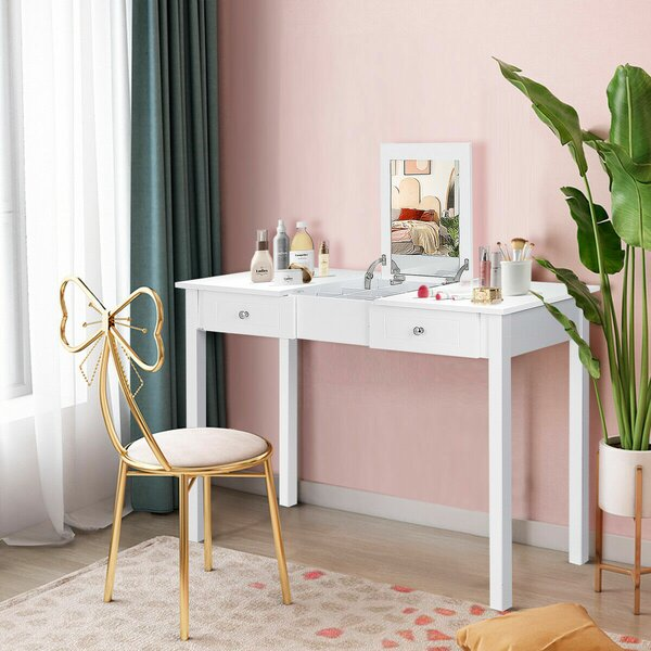 Kaila Vanity with Mirror by Charlton Home Charlton Home