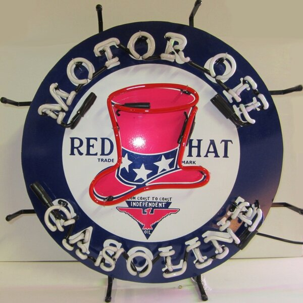 Red Hat Gasoline Neon Sign by Neonetics