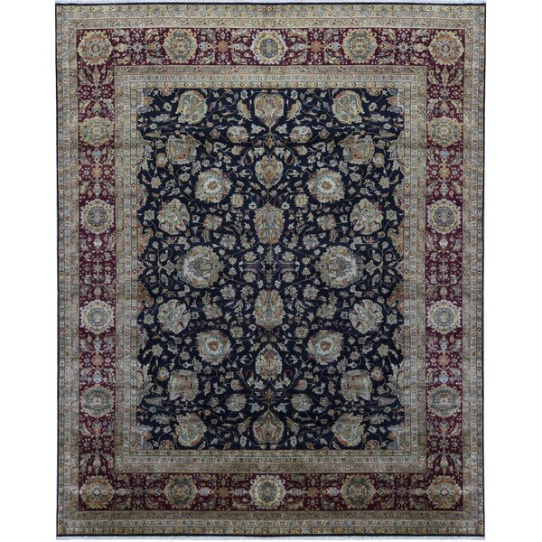 One-of-a-Kind Sona Hand-Knotted Black 12'2 x 15'3 Area Rug