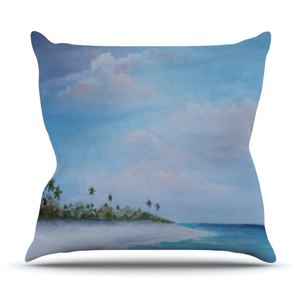 Carefree Carribean by Rosie Brown Outdoor Throw Pillow by East Urban Home